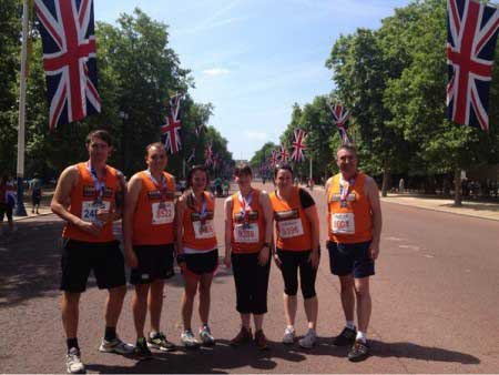 A hot but fun day at the British 10K on Sunday 14th July